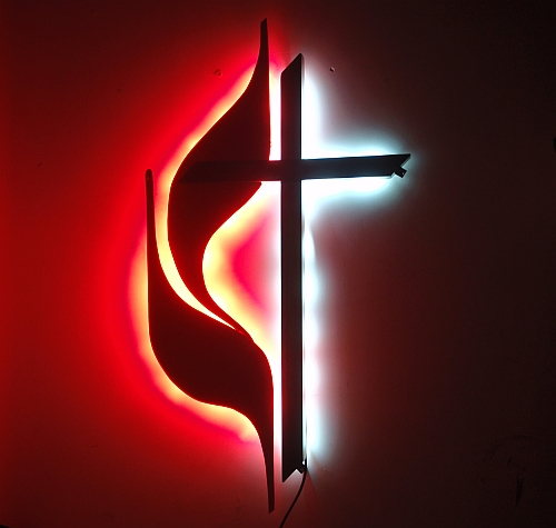 lighted led cross in red and white led,this lighted cross is beautiful